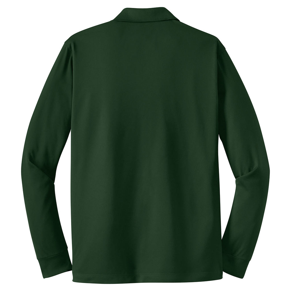 Sport-Tek Men's Forest Green Long Sleeve Micropique Sport-Wick Polo