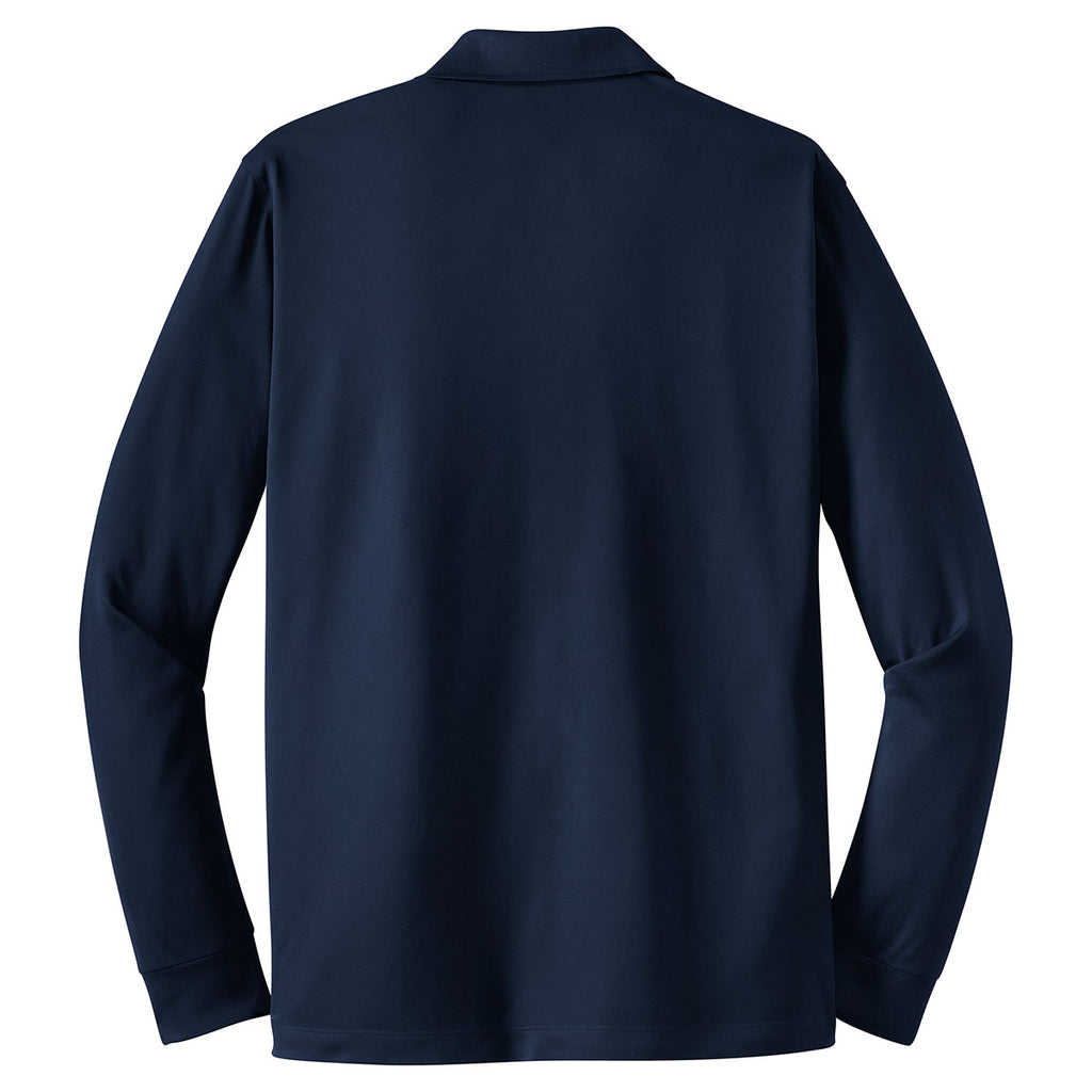 Sport-Tek Men's True Navy Long Sleeve Micropique Sport-Wick Polo