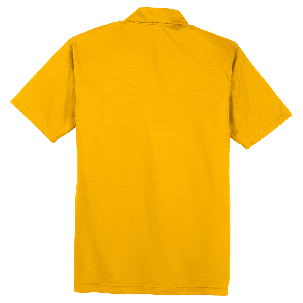 Sport-Tek Men's Gold PosiCharge Active Textured Polo