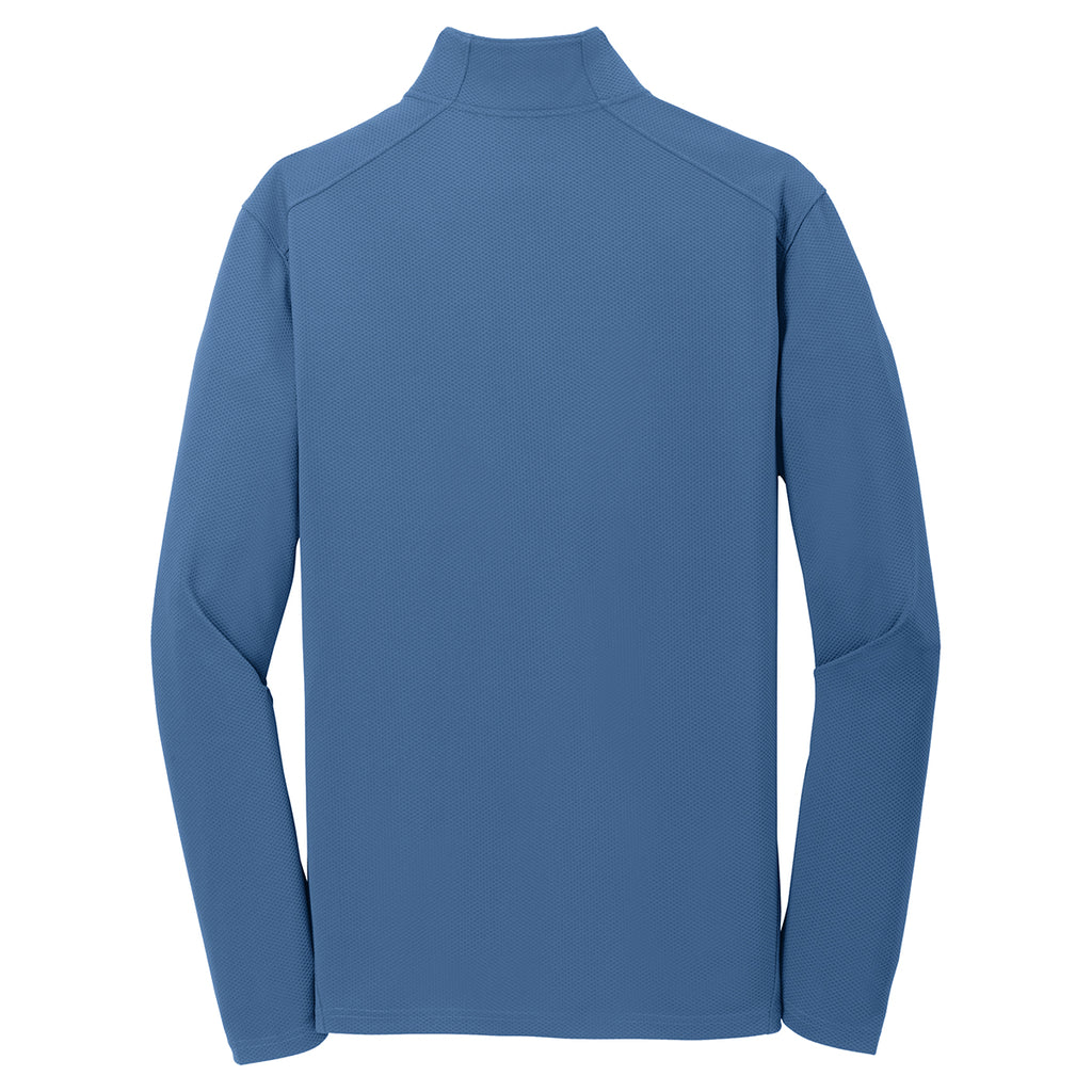 Sport-Tek Men's Dawn Blue Textured 1/4-Zip Pullover