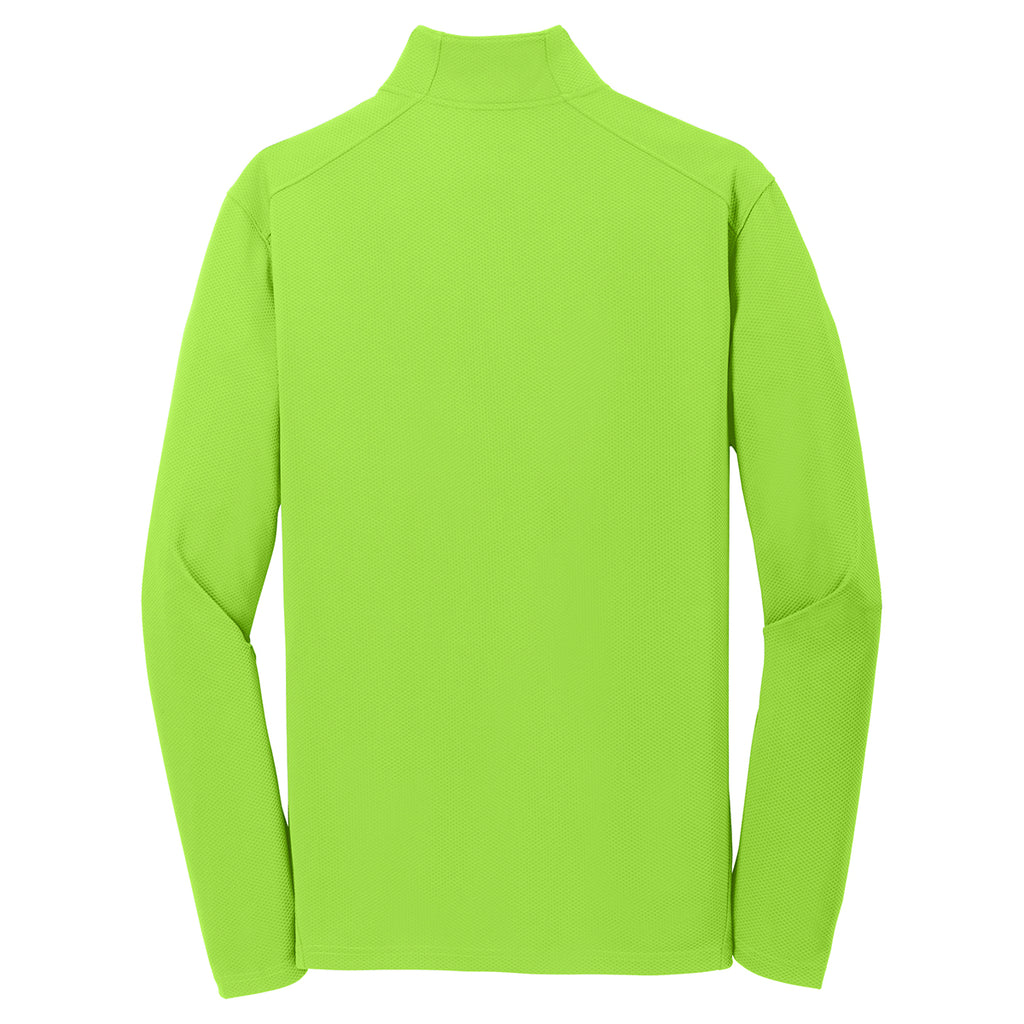 Sport-Tek Men's Lime Shock Textured 1/4-Zip Pullover