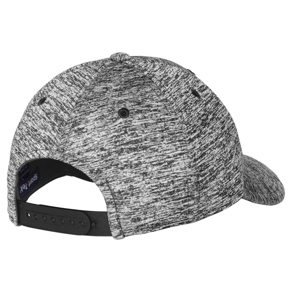 Sport-Tek Black Electric PosiCharge Electric Heather Cap