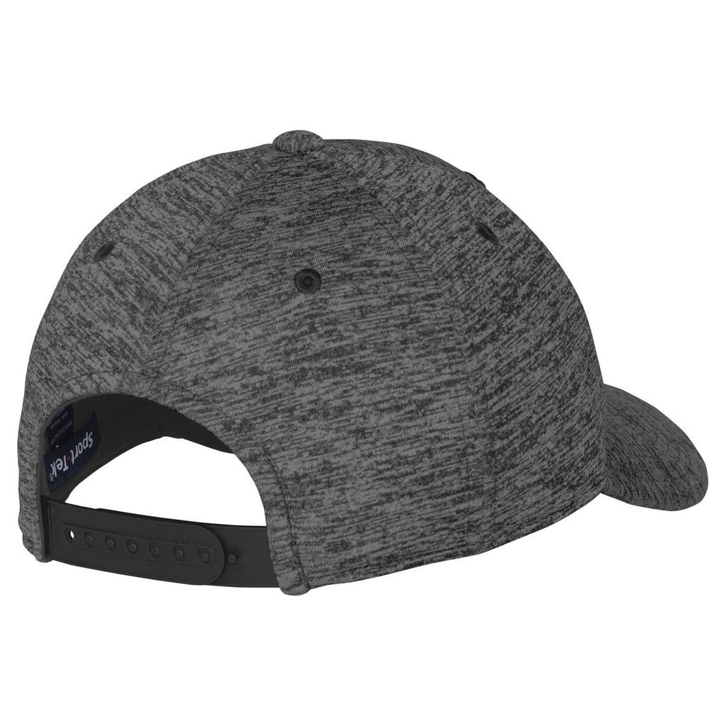 Sport-Tek Grey-Black Electric PosiCharge Electric Heather Cap