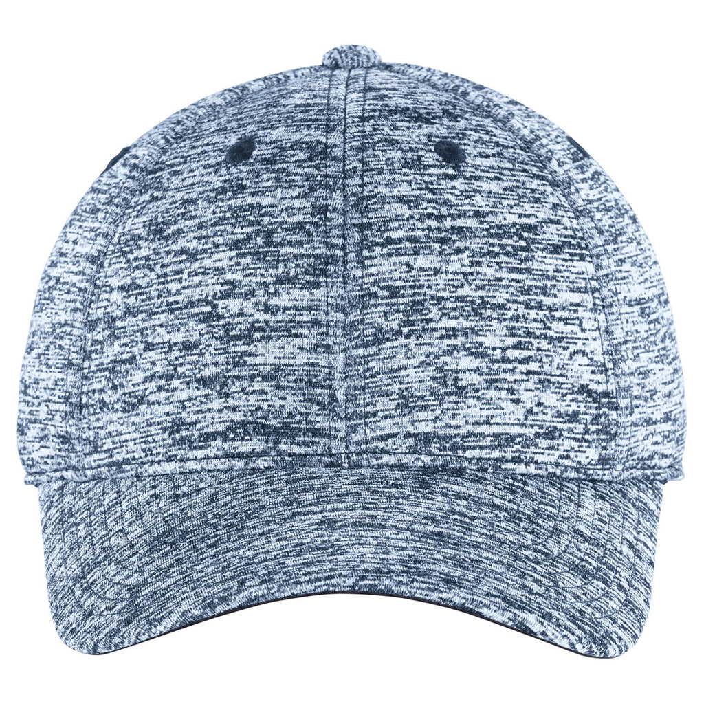 Sport-Tek True Navy Electric PosiCharge Electric Heather Cap