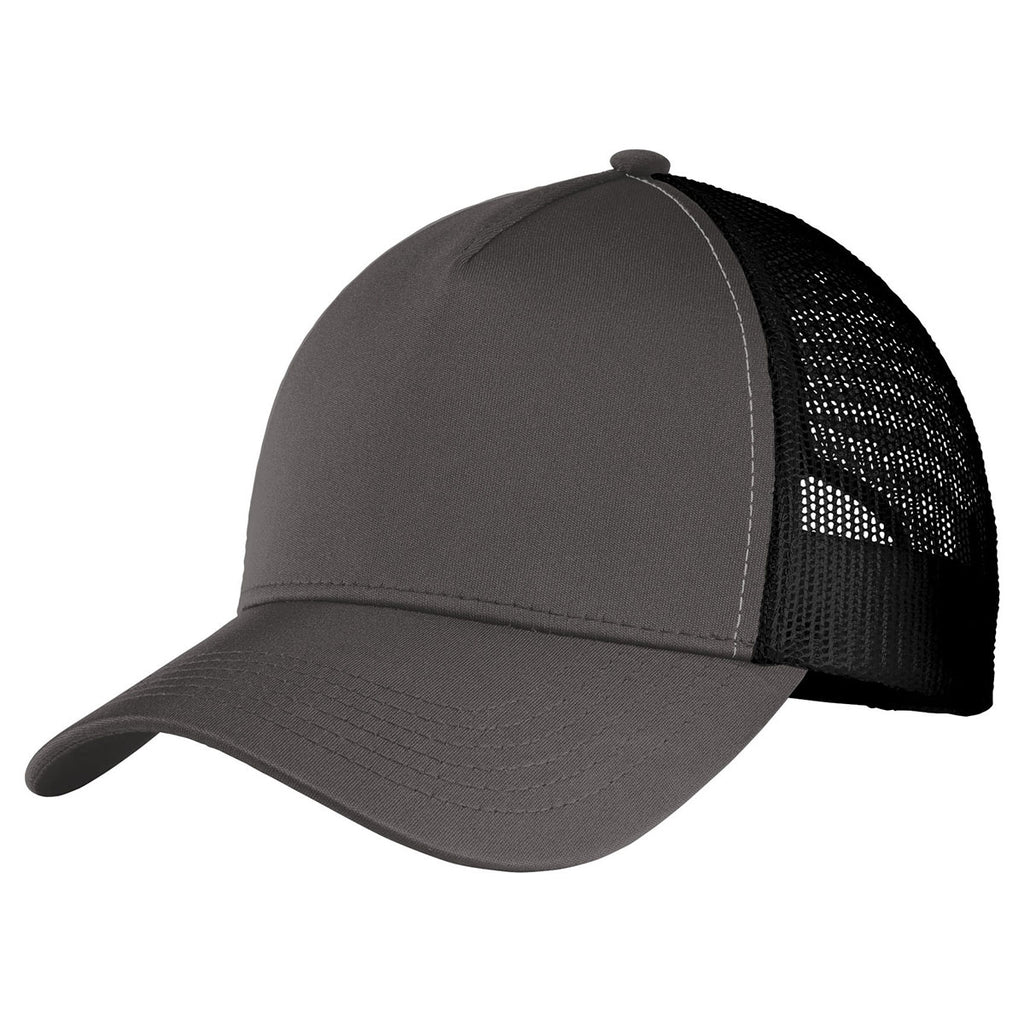 Sport Tek Iron Grey Black Posicharge Competitor Mesh Back Cap Watch the best live coverage of your favourite sports: merchology