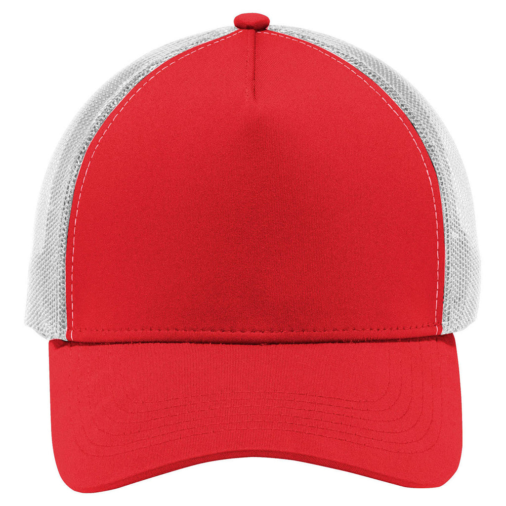 Sport-Tek True Red/White PosiCharge Competitor Mesh Back Cap