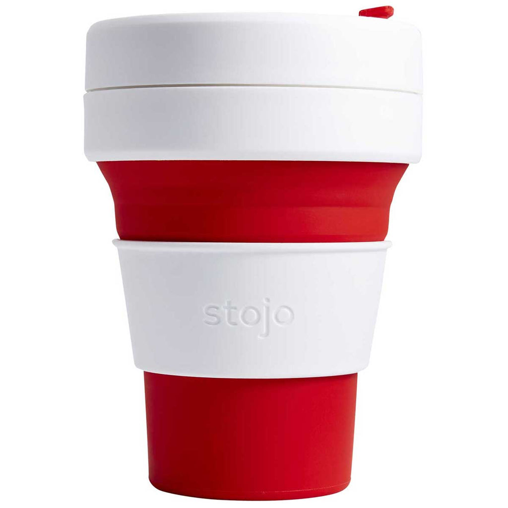 Stojo Red 12 oz Pocket Collapsible Cup