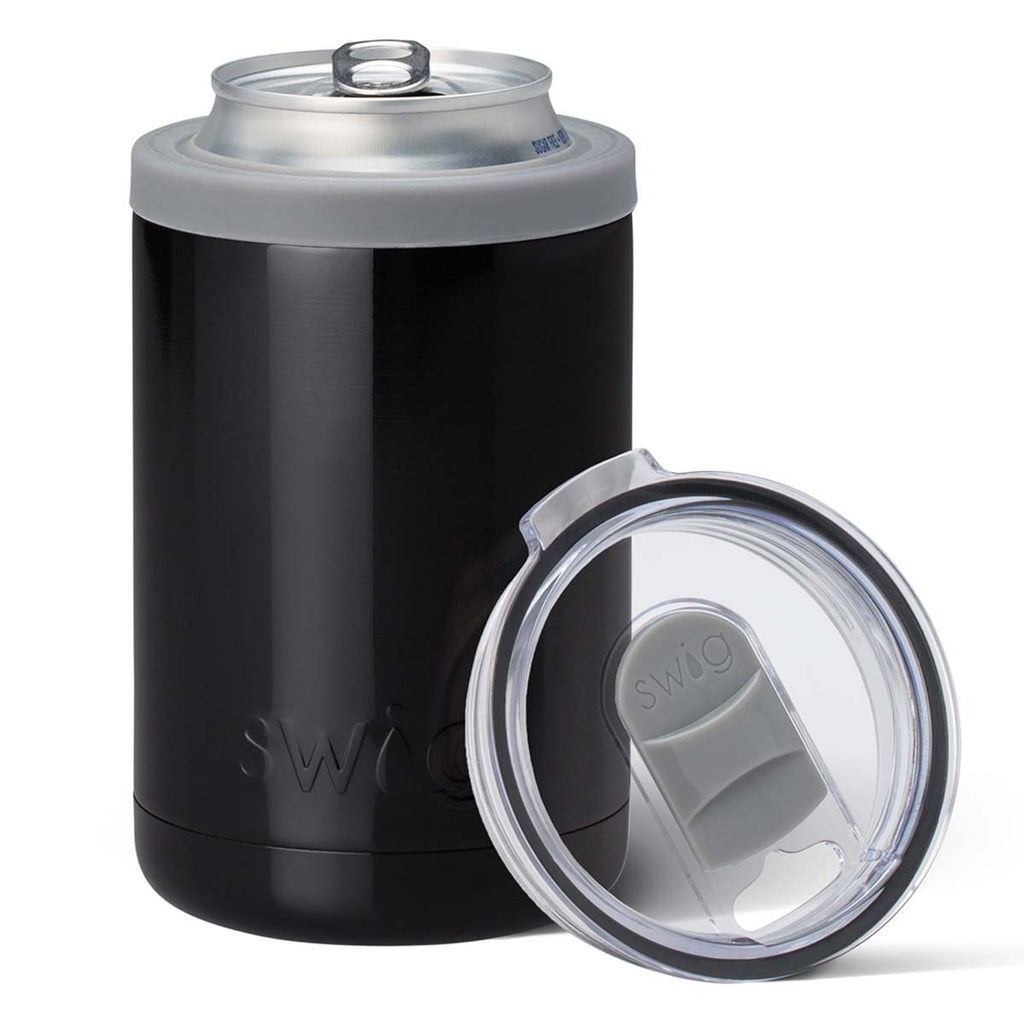 Swig Black 12 oz Combo Can Cooler