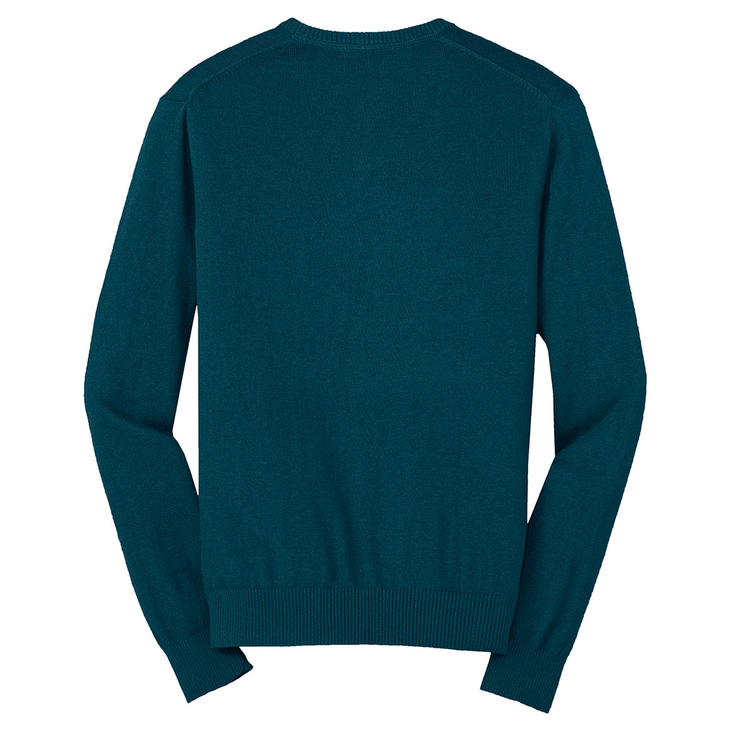 Port Authority Men's Moroccan Blue V-Neck Sweater