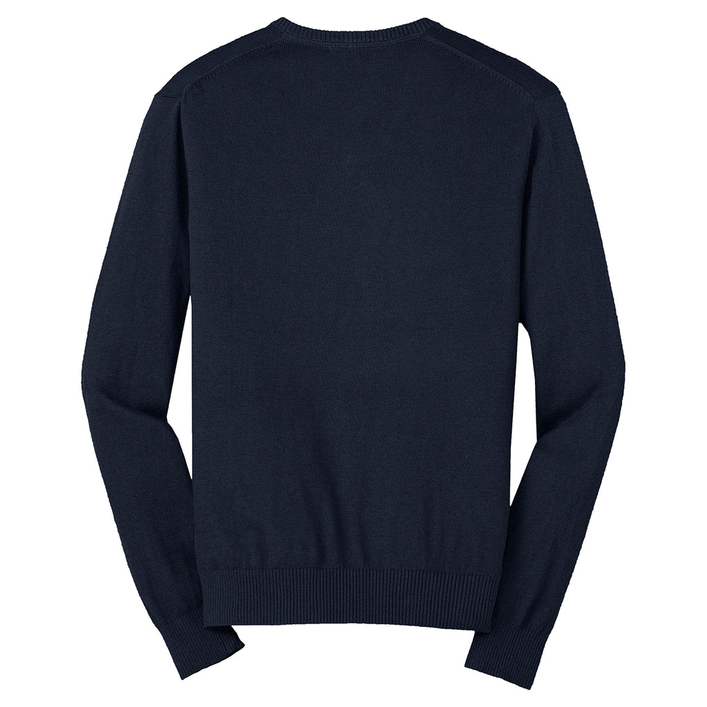 Port Authority Men's Navy V-Neck Sweater
