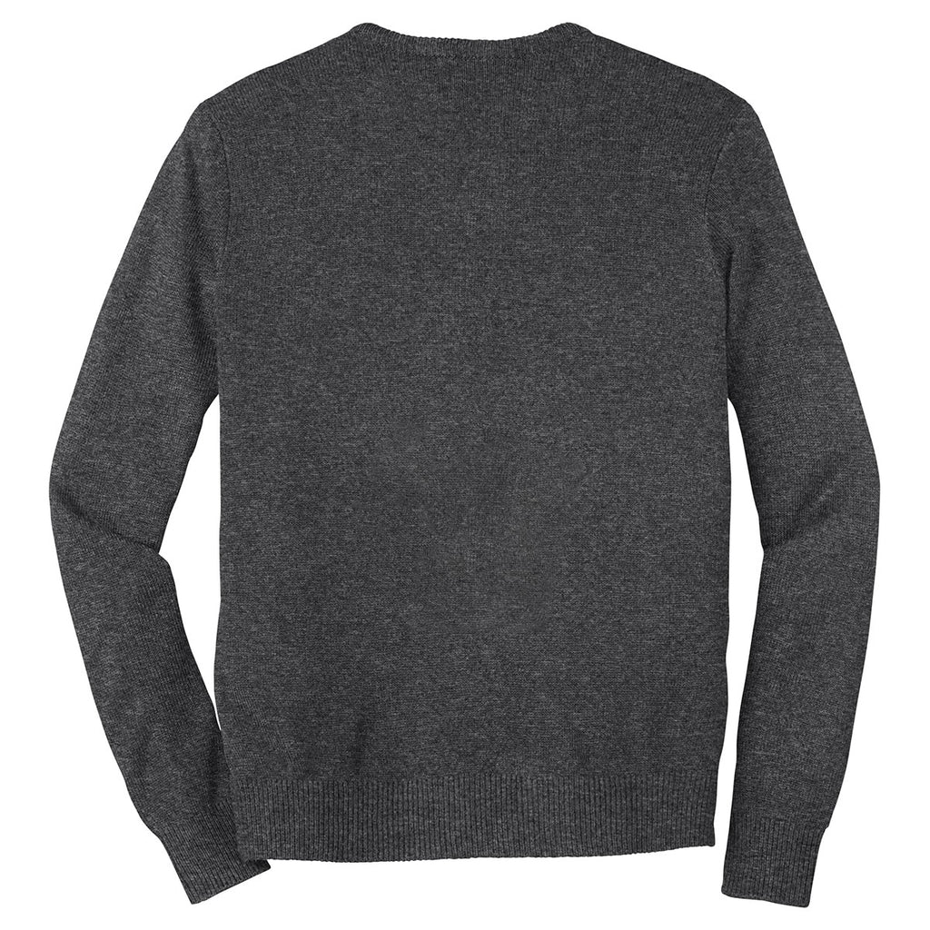 Port Authority Men's Charcoal Grey Value V-Neck Sweater