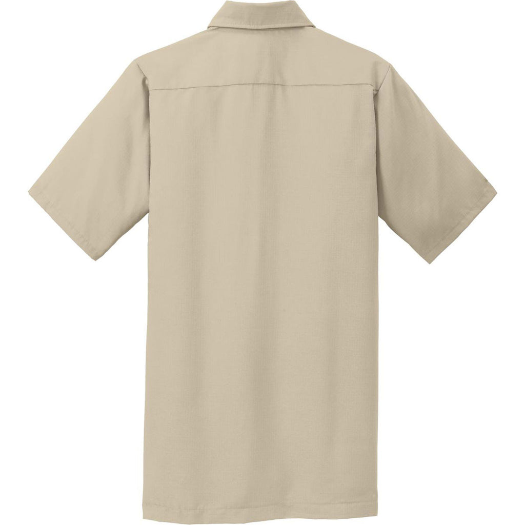 Red Kap Men's Khaki Short Sleeve Solid Ripstop Shirt