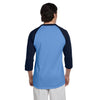 Champion Men's Light Blue/Navy Baseball T-Shirt