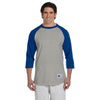 Champion Men's Grey/Blue Baseball T-Shirt