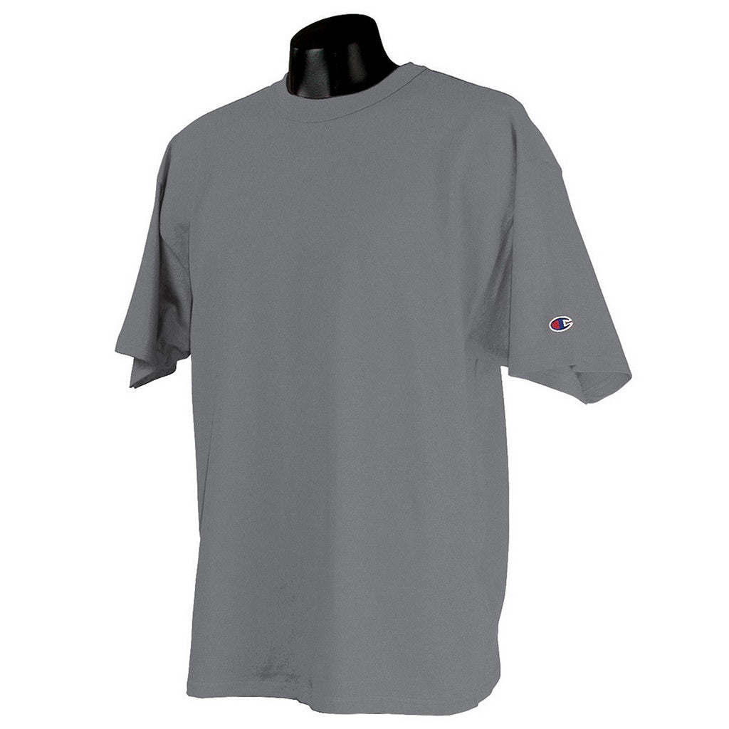 6052756d940ead Champion Men's Oxford Grey Heritage 7-Ounce Jersey T-Shirt. ADD YOUR LOGO