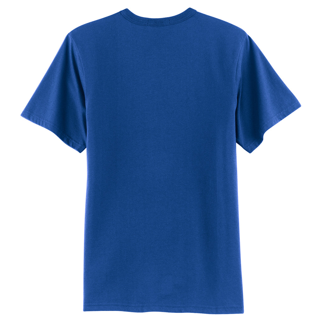 Sport-Tek Men's Royal Short Sleeve Henley