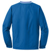 Sport-Tek Men's True Royal/ White Tall Tipped V-Neck Raglan Wind Shirt