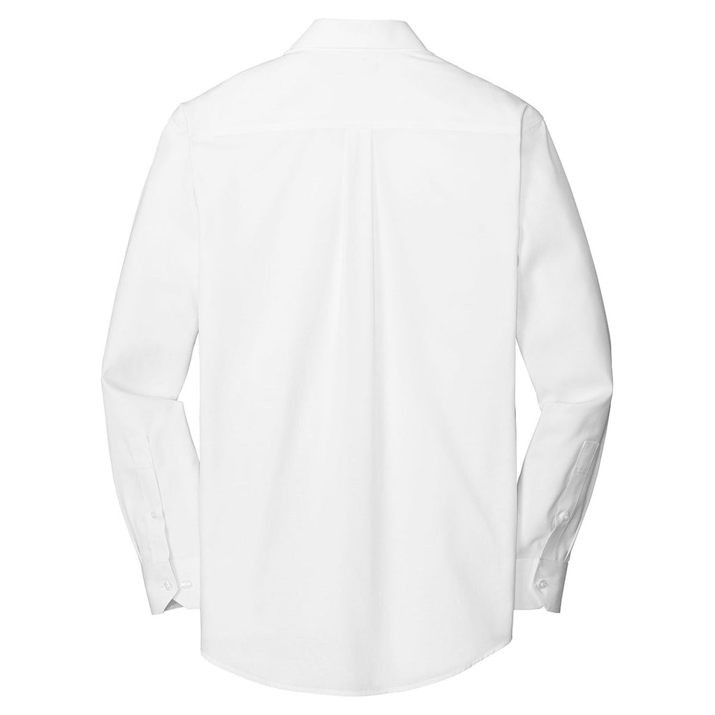 Red House Men's White Tall Nailhead Non-Iron Shirt