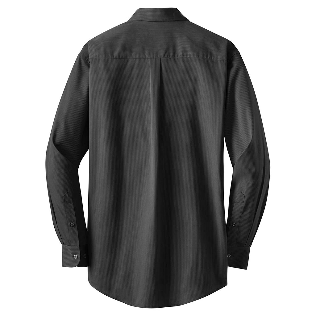 Port Authority Men's Dark Charcoal Tall Tonal Pattern Easy Care Shirt