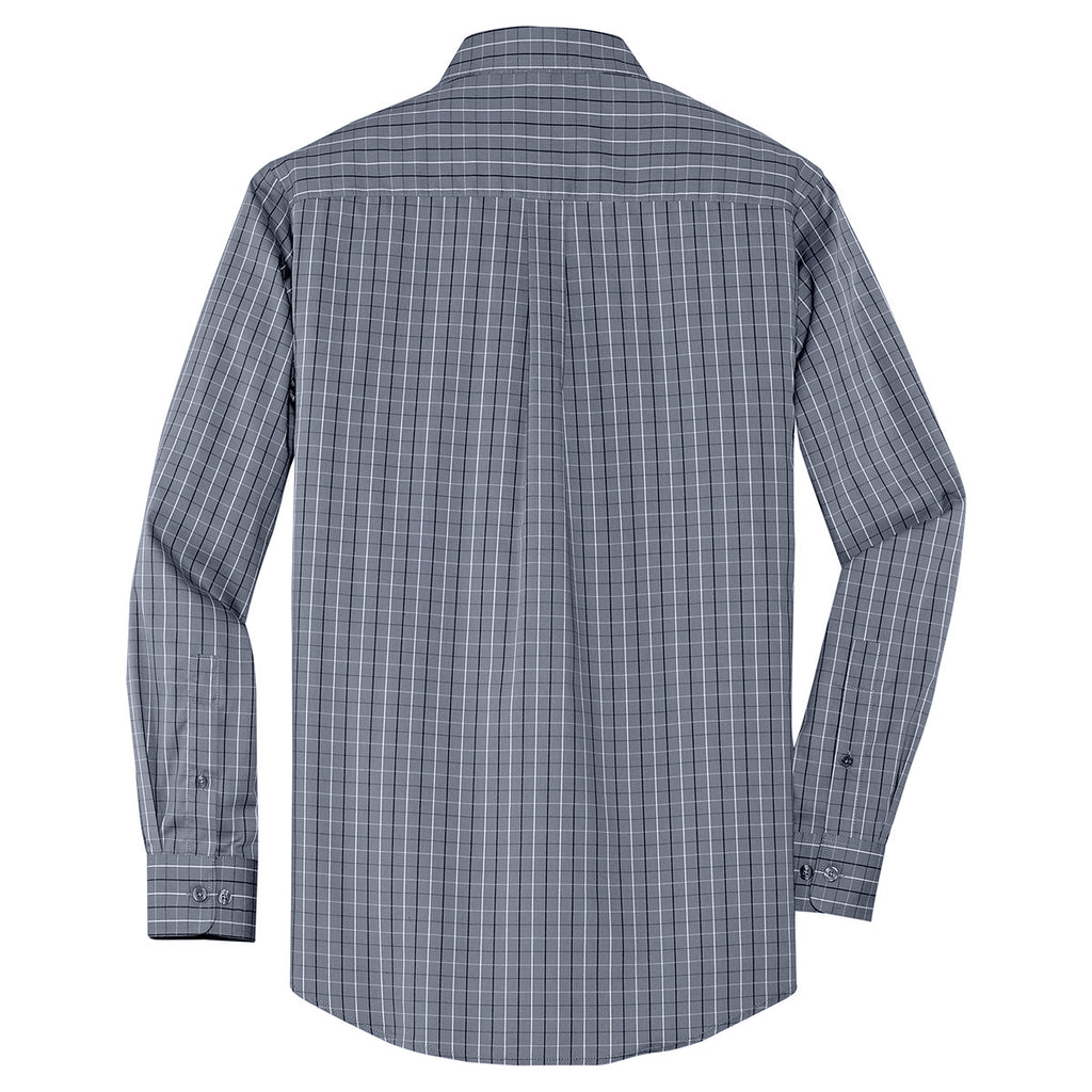 Port Authority Mens Plaid Pattern Easy Care Shirt