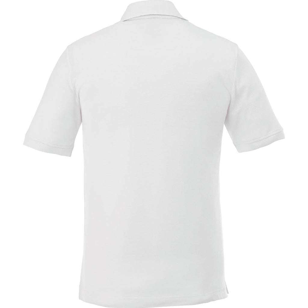Elevate Men's White Crandall Short Sleeve Polo