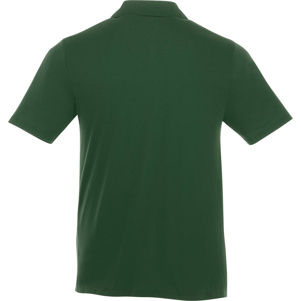 Elevate Men's Forest Green Acadia Short Sleeve Polo