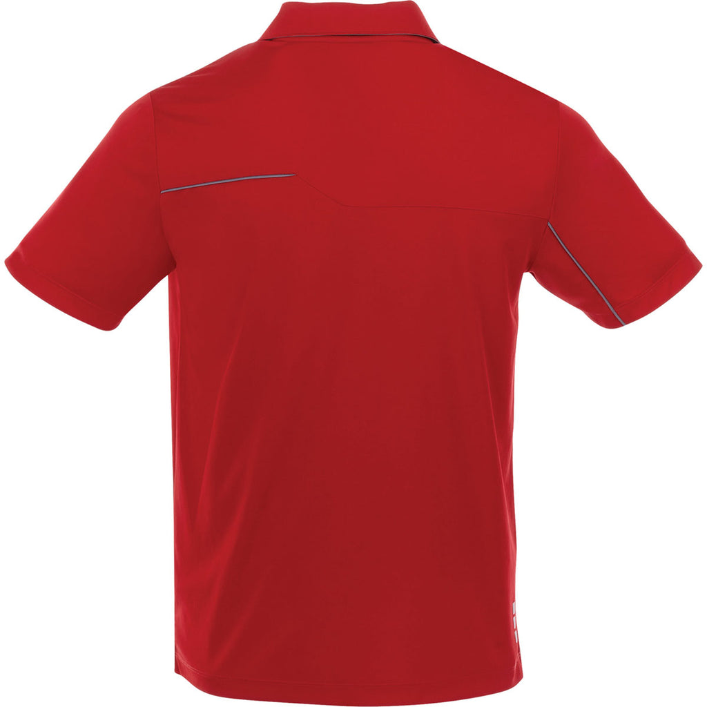 Elevate Men's Team Red/Steel Grey Wilcox Short Sleeve Polo