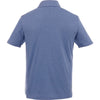 Elevate Men's Steel Blue Heather Concord Short Sleeve Polo