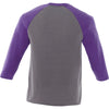 Elevate Men's Purple Heather/Medium Heather Grey Dakota Three Quarter Tee