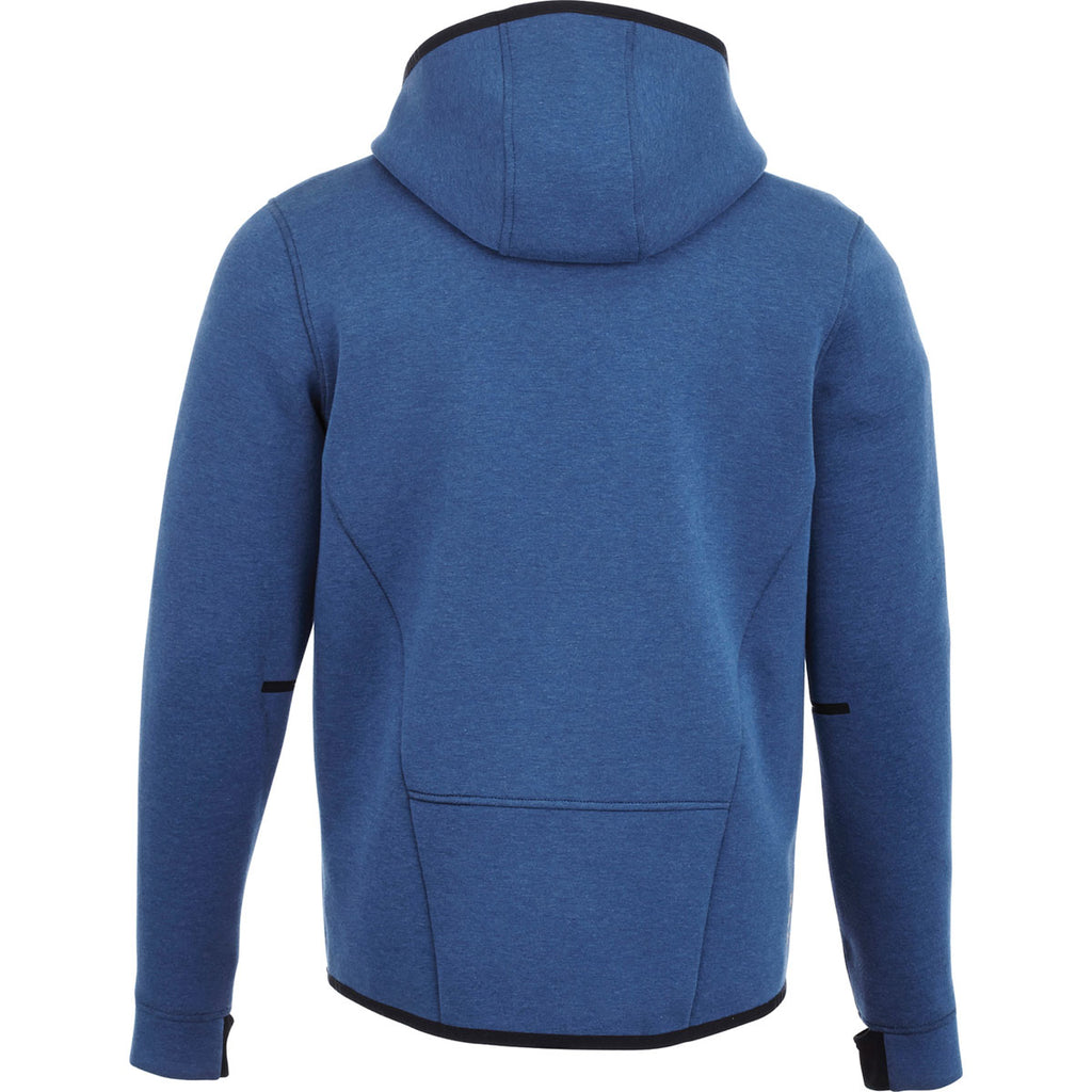 Elevate Men's Metro Blue Heather/Metro Blue Chivero Knit Jacket