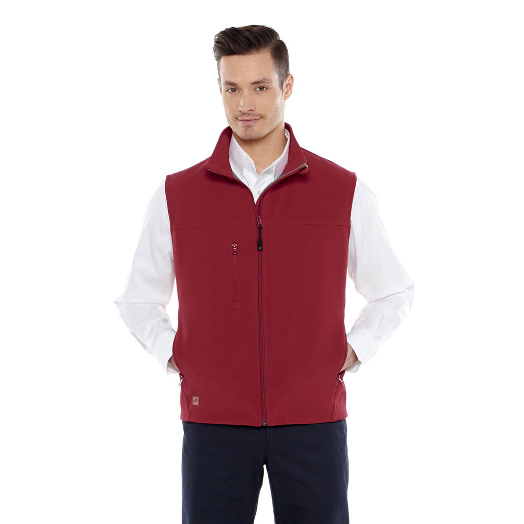 Elevate Men's Vintage Red Innis Bonded Fleece Vest