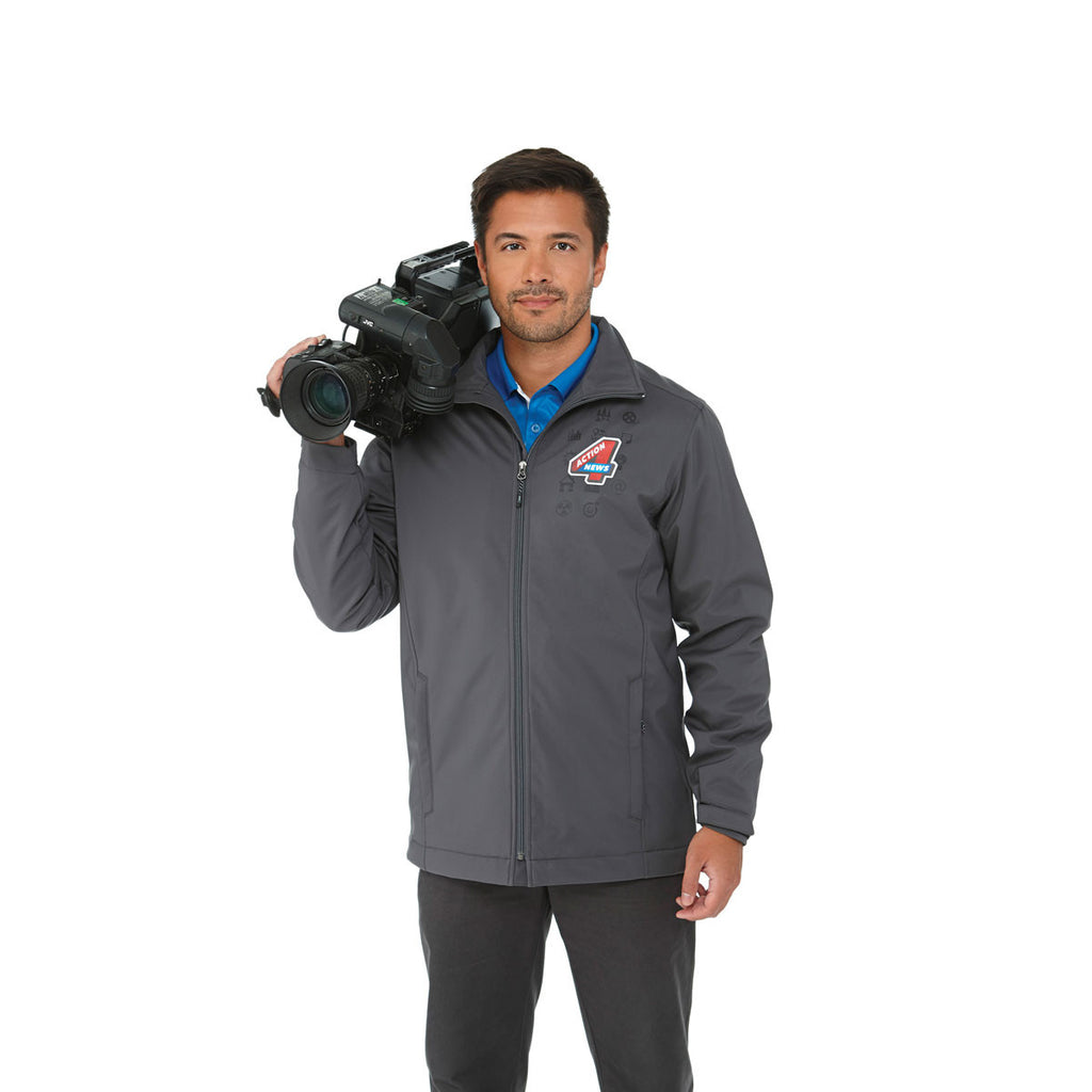 Elevate Men's Grey Storm Lawson Insulated Softshell Jacket