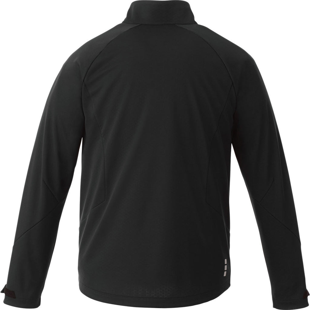 Elevate Men's Black Kaputar Softshell Jacket