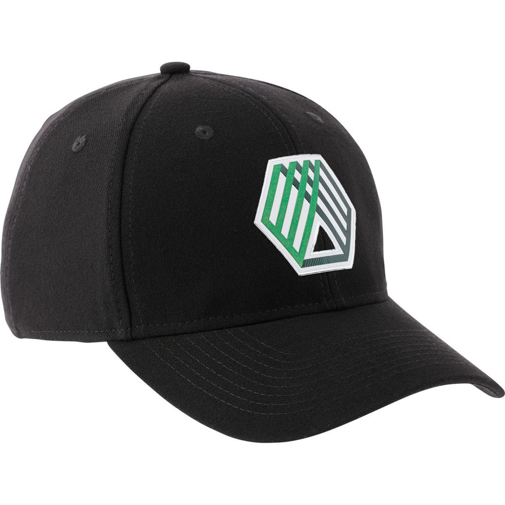 Elevate Black Acuity Fitted Ballcap. ADD YOUR LOGO f5dcaf21e4b
