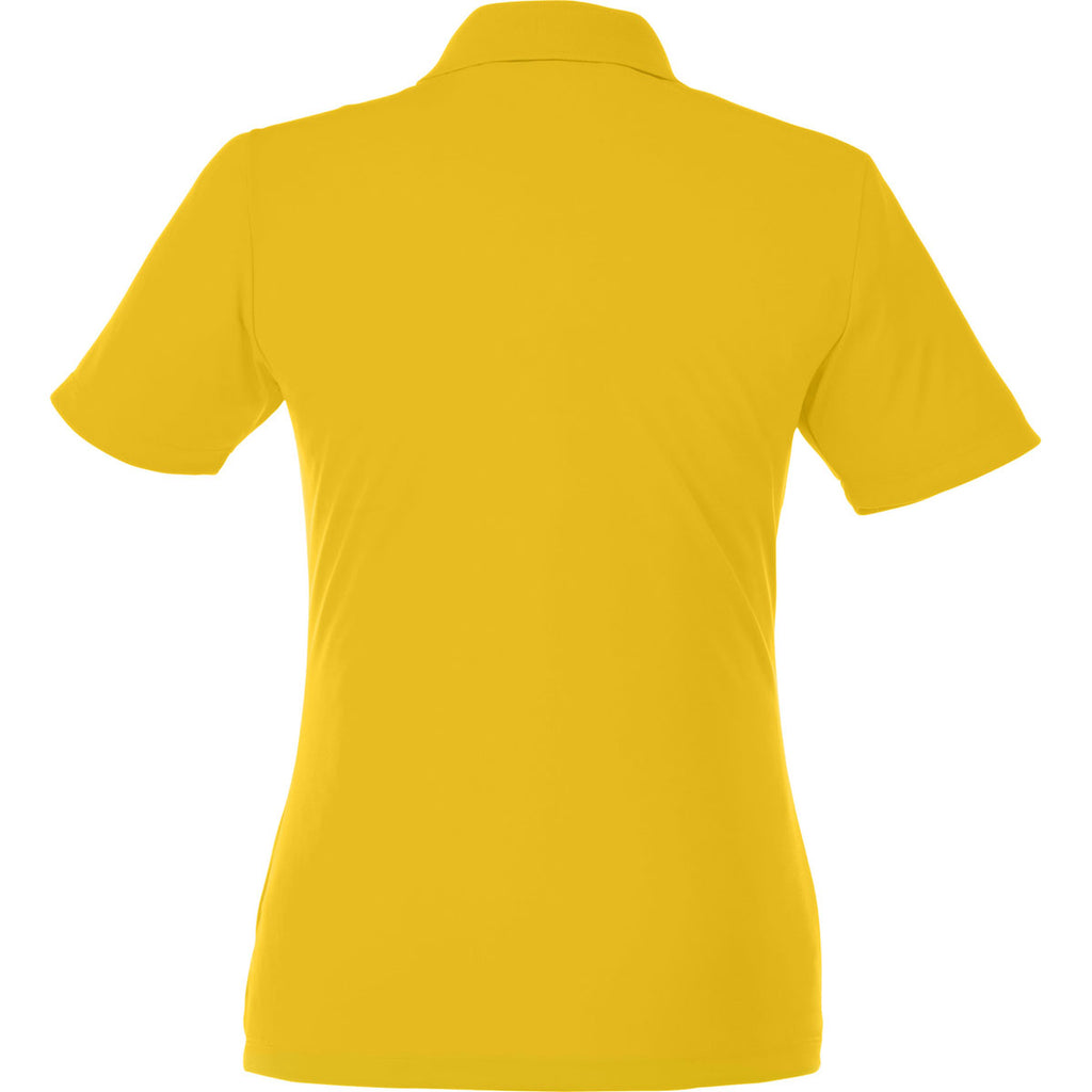 Elevate Women's Yellow Dade Short Sleeve Polo