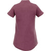 Elevate Women's Maroon Heather Concord Short Sleeve Polo