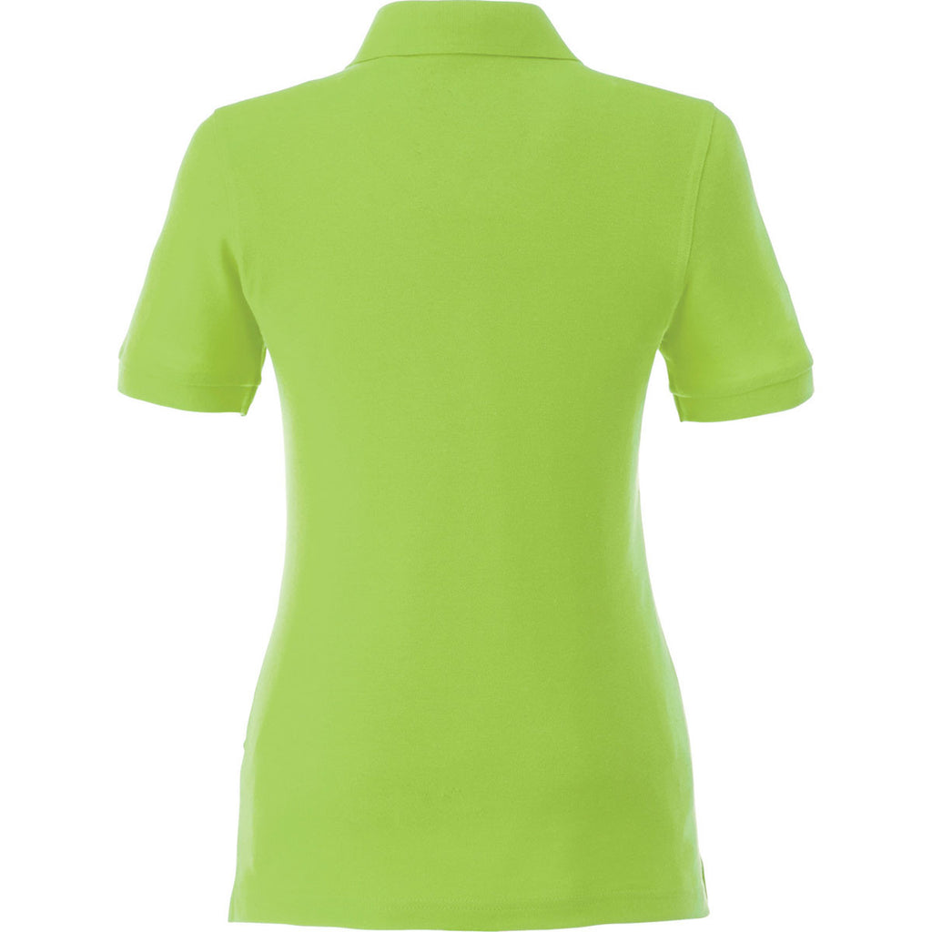 Elevate Women's Dark Citron Green Belmont Short Sleeve Polo