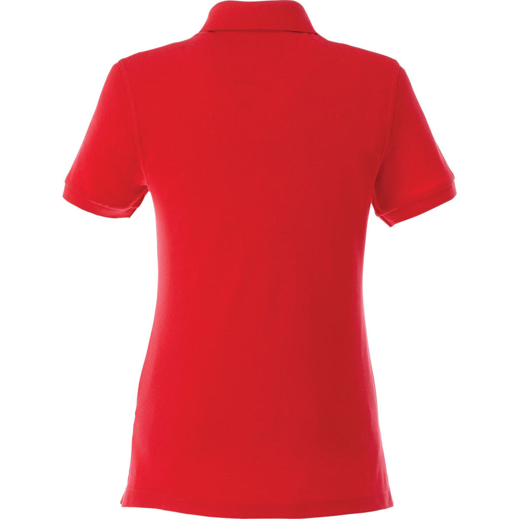 Elevate Women's Team Red Belmont Short Sleeve Polo