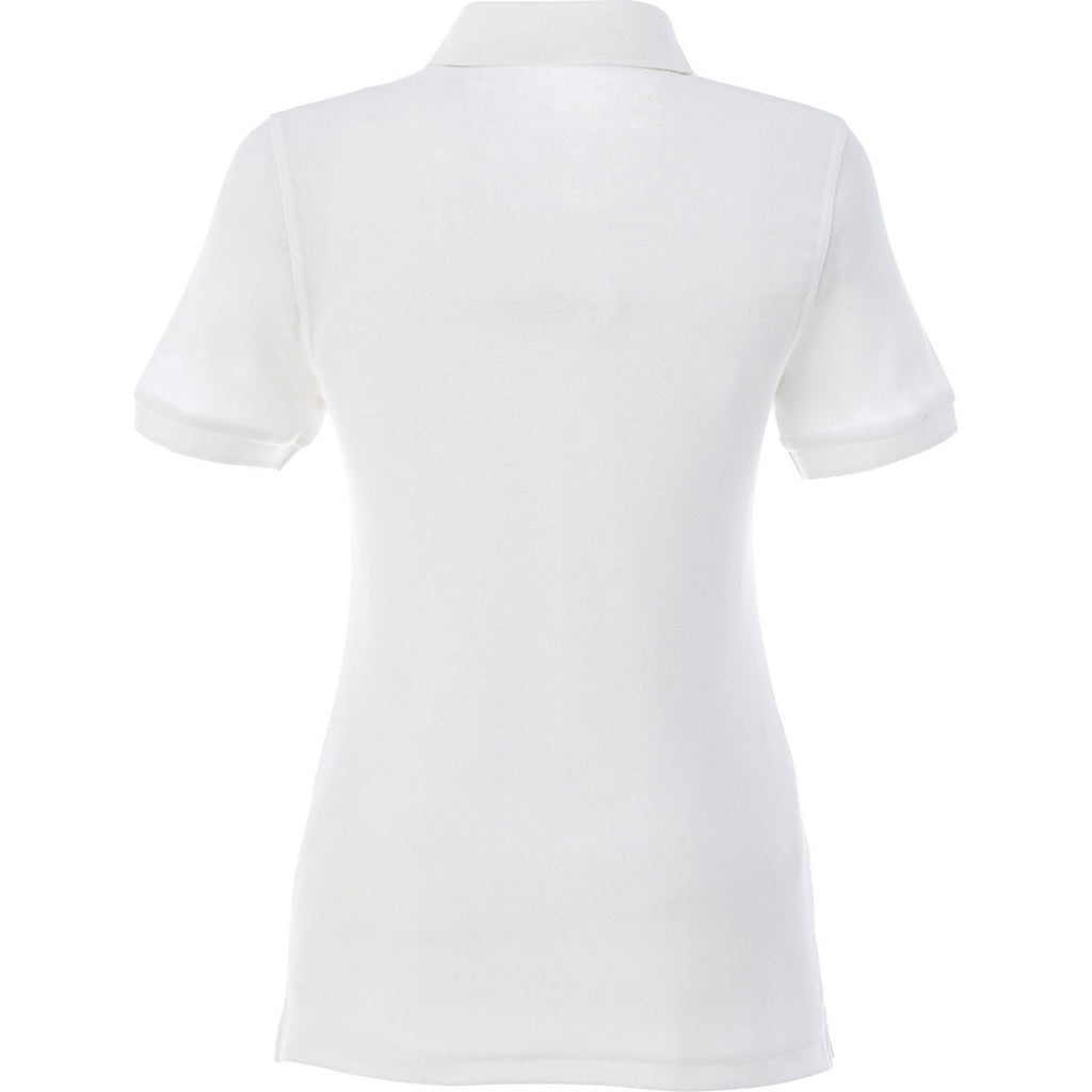 Elevate Women's White Belmont Short Sleeve Polo