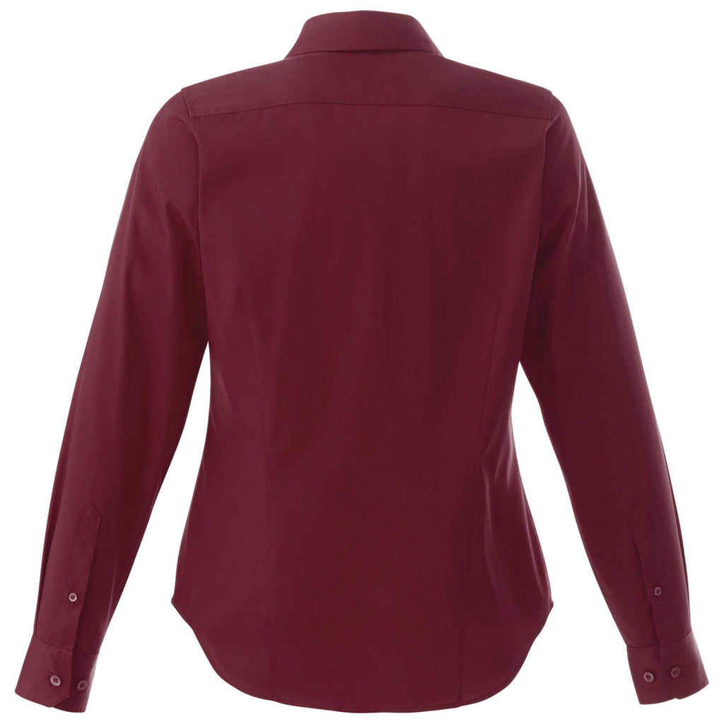 Elevate Women's Maroon Wilshire Long Sleeve Shirt