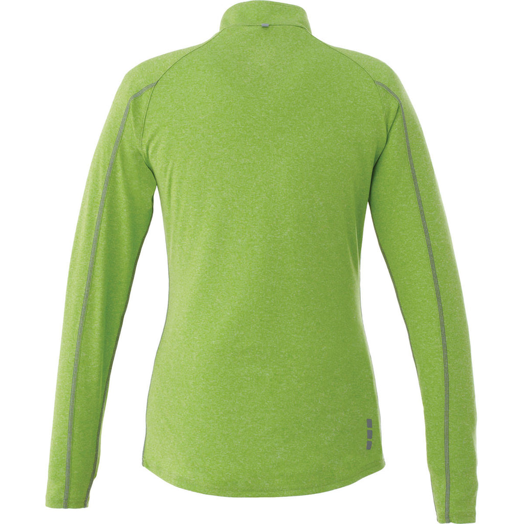 Elevate Women's Apple Heather Taza Knit Quarter Zip