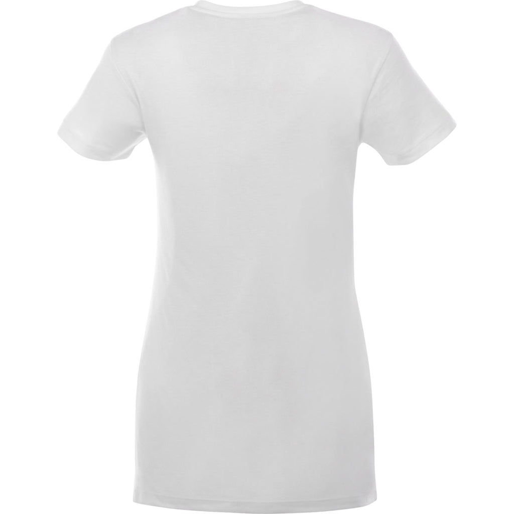 Elevate Women's White Monroe Short Sleeve Pocket Tee