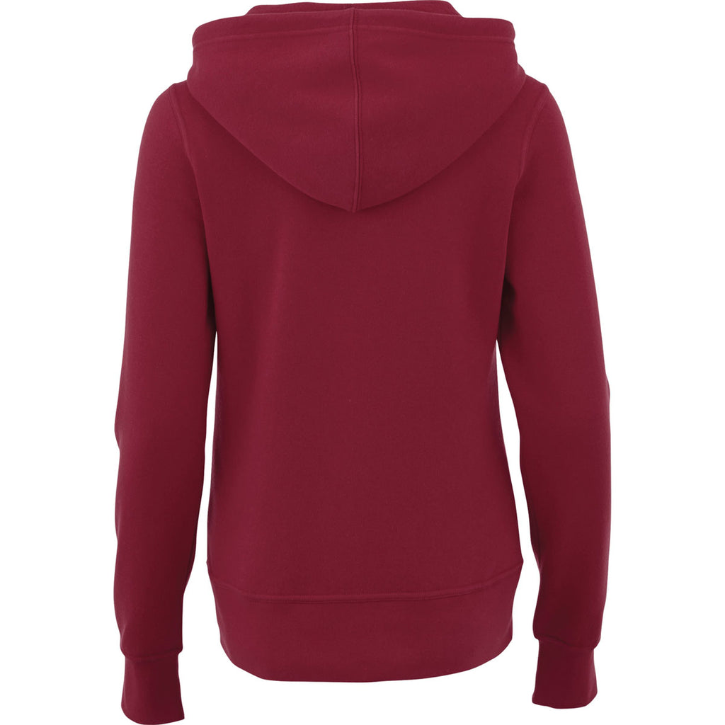Elevate Women's Maroon Cypress Fleece Zip Hoody
