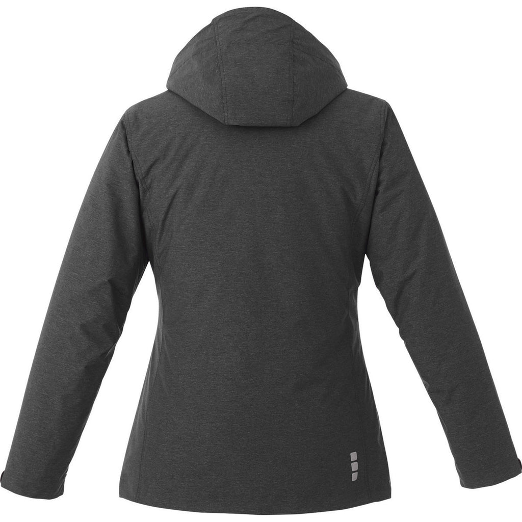 Elevate Women's Heather Dark Charcoal Delamar 3-in-1 Jacket