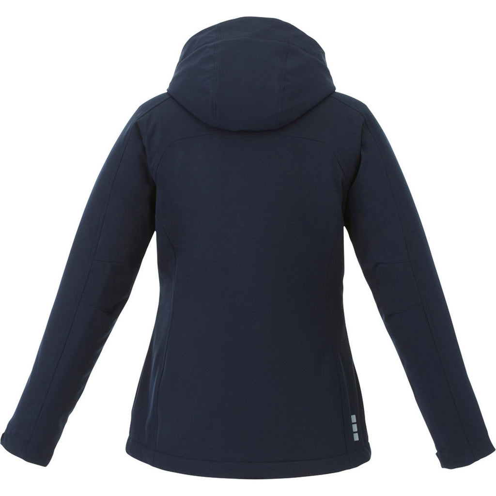 Elevate Women's Navy Bryce Insulated Softshell Jacket