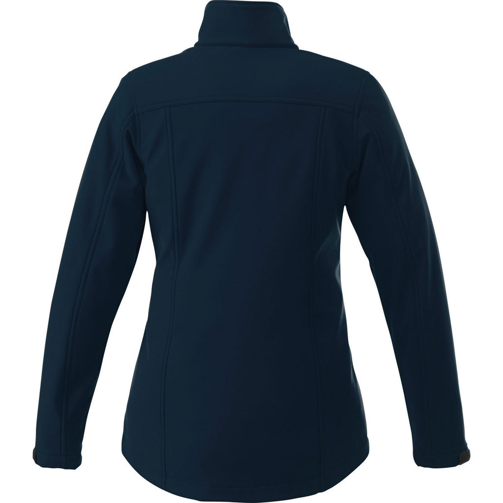Elevate Women's Navy Maxon Softshell Jacket