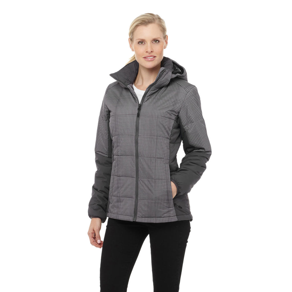 Elevate Women's Grey Storm Arusha Insulated Jacket