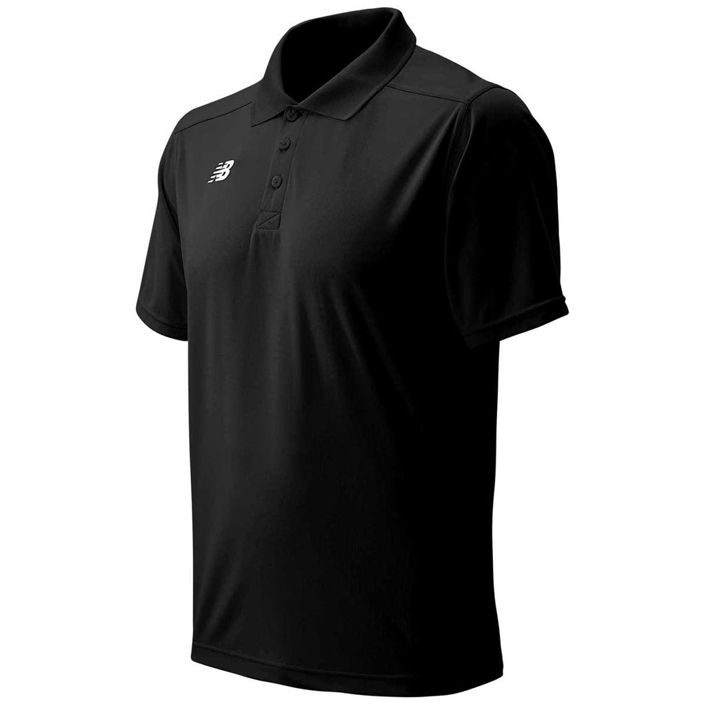 New Balance Men's Team Black Tech Polo