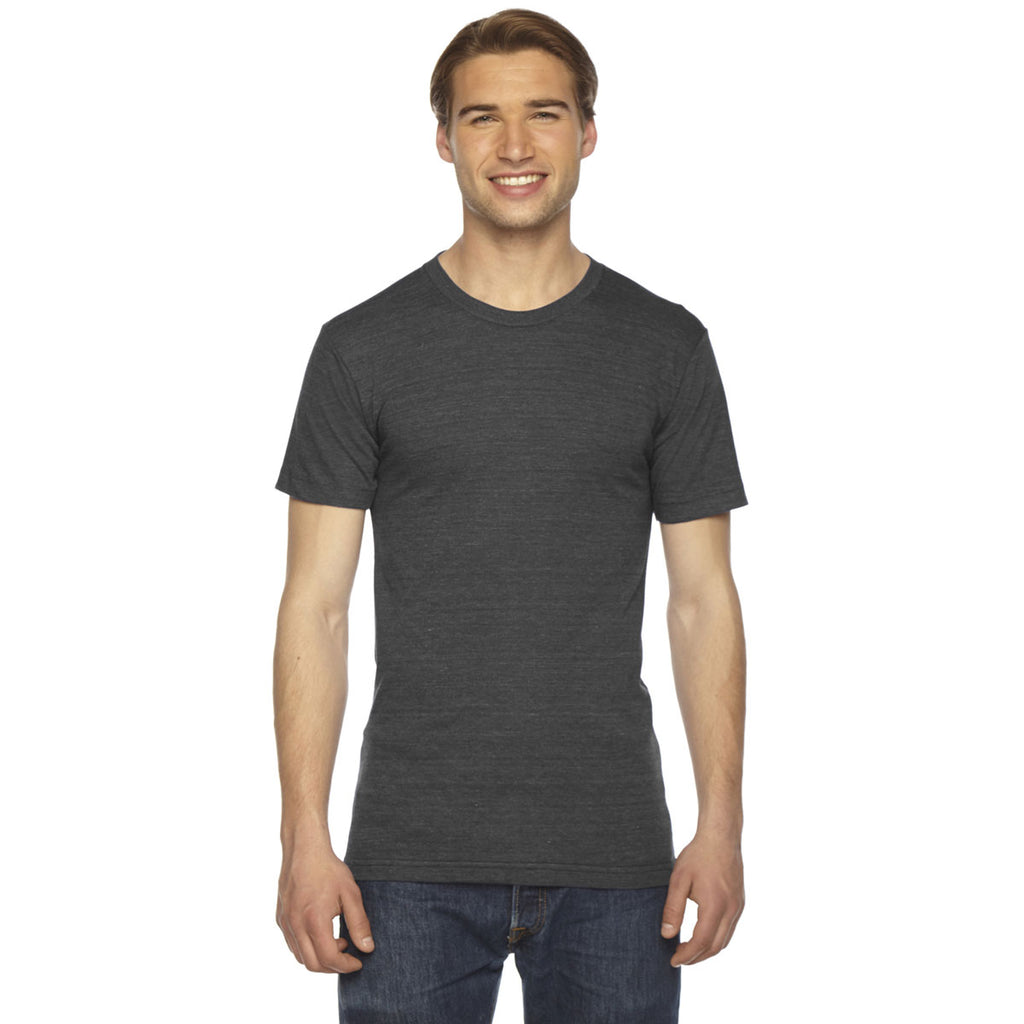 American Apparel Unisex Triblend Black Short Sleeve Track