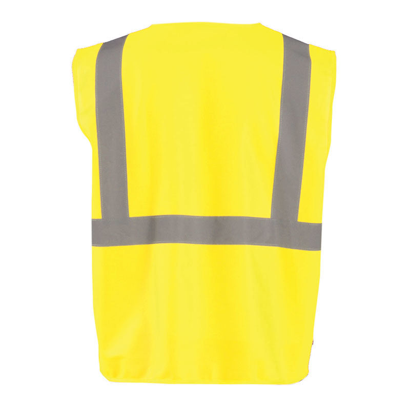 OccuNomix Men's Yellow Solid Self-Extinguishing Vest with Quick Release Zipper